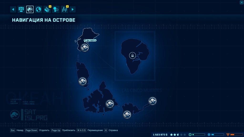 Глобальная карта архипелага Лас-Синко-Муэртос