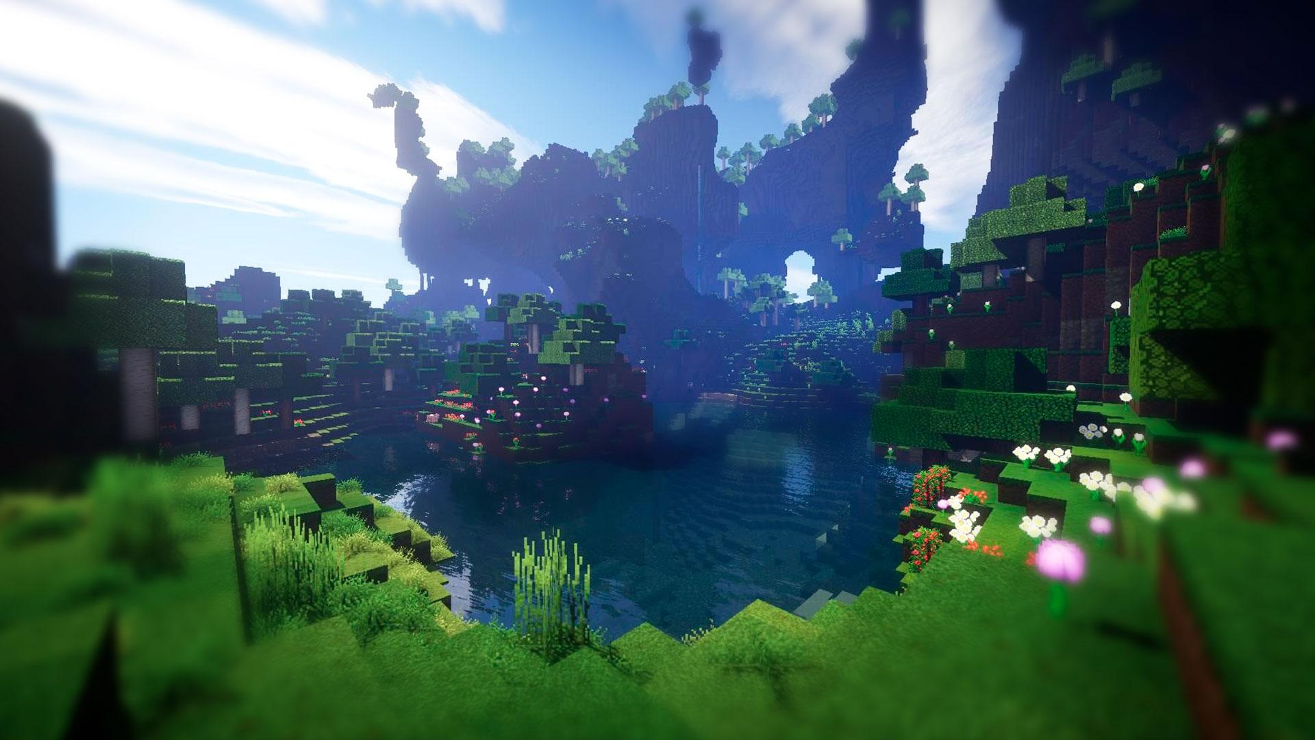 Выживание в открытом мире Minecraft
