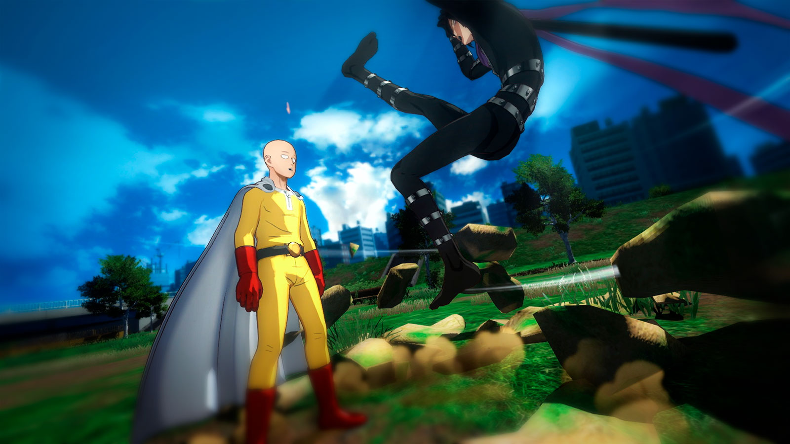 ONE PUNCH MAN аниме файт