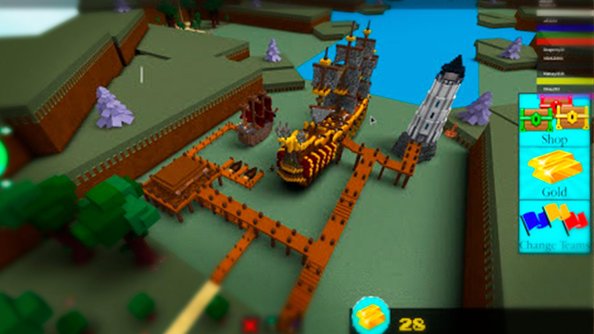 Строительство корабля в Roblox