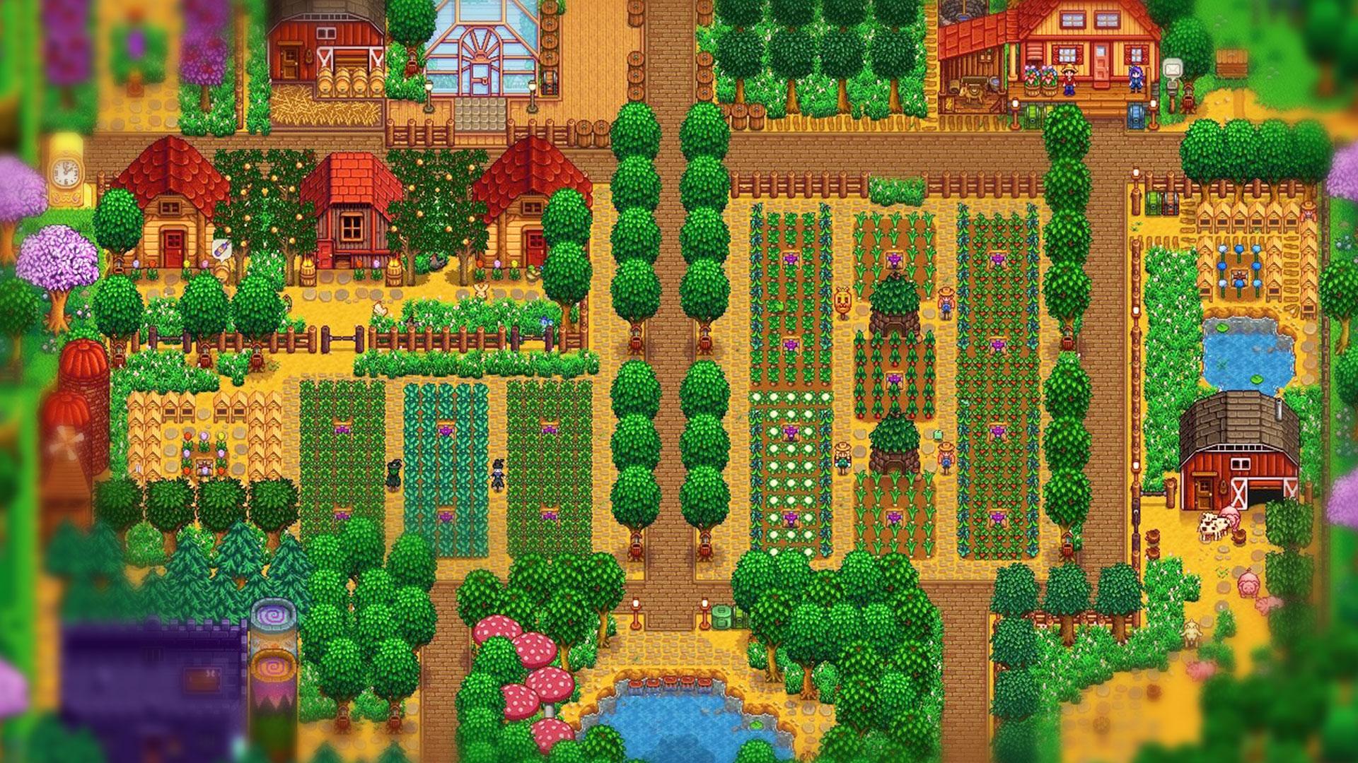 Выращивание садов в Stardew Valley
