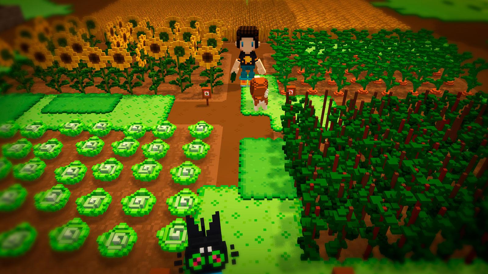 Staxel пиксельная 3d ферма