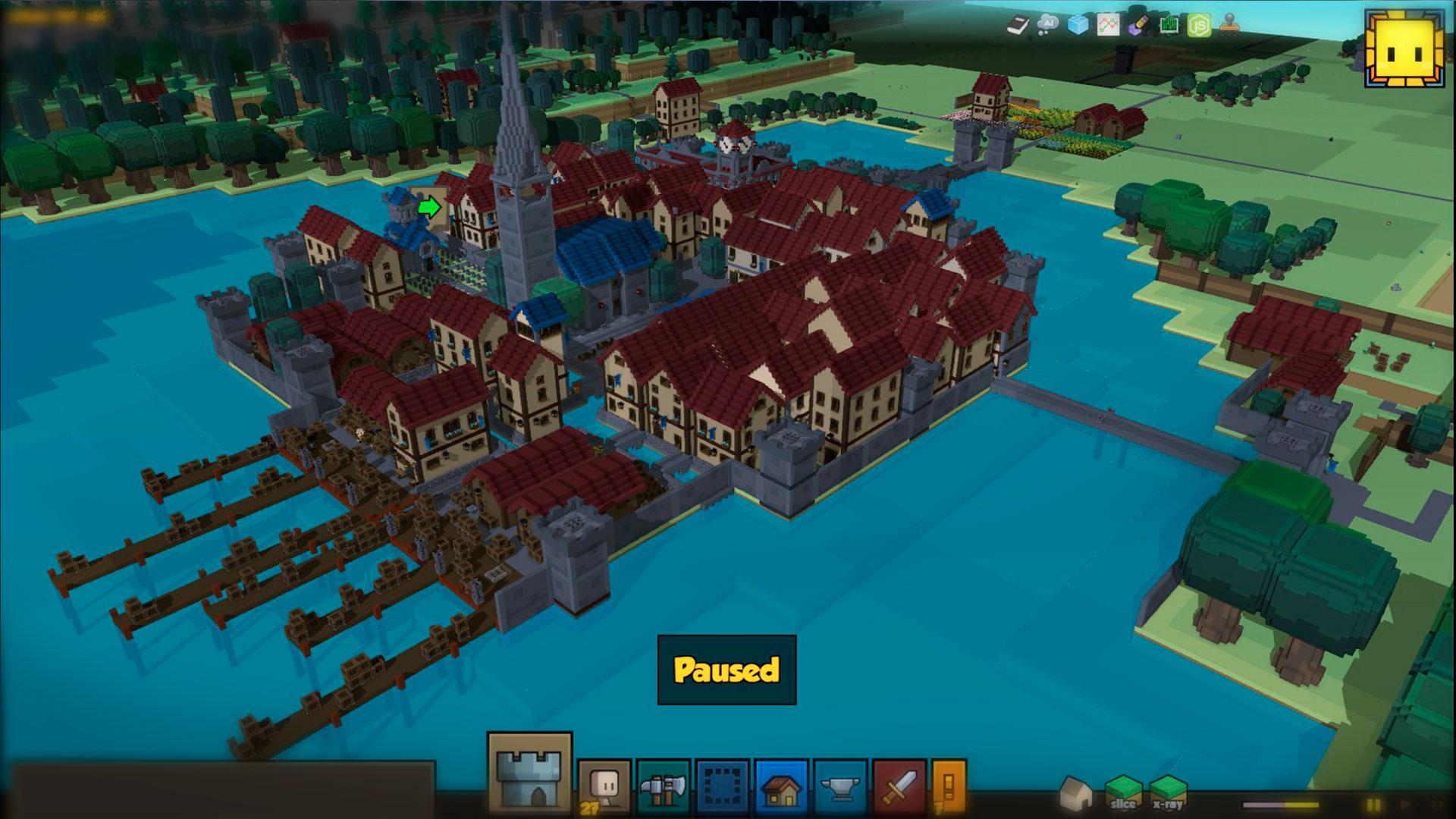 Построение дворца силами союзников в Stonehearth