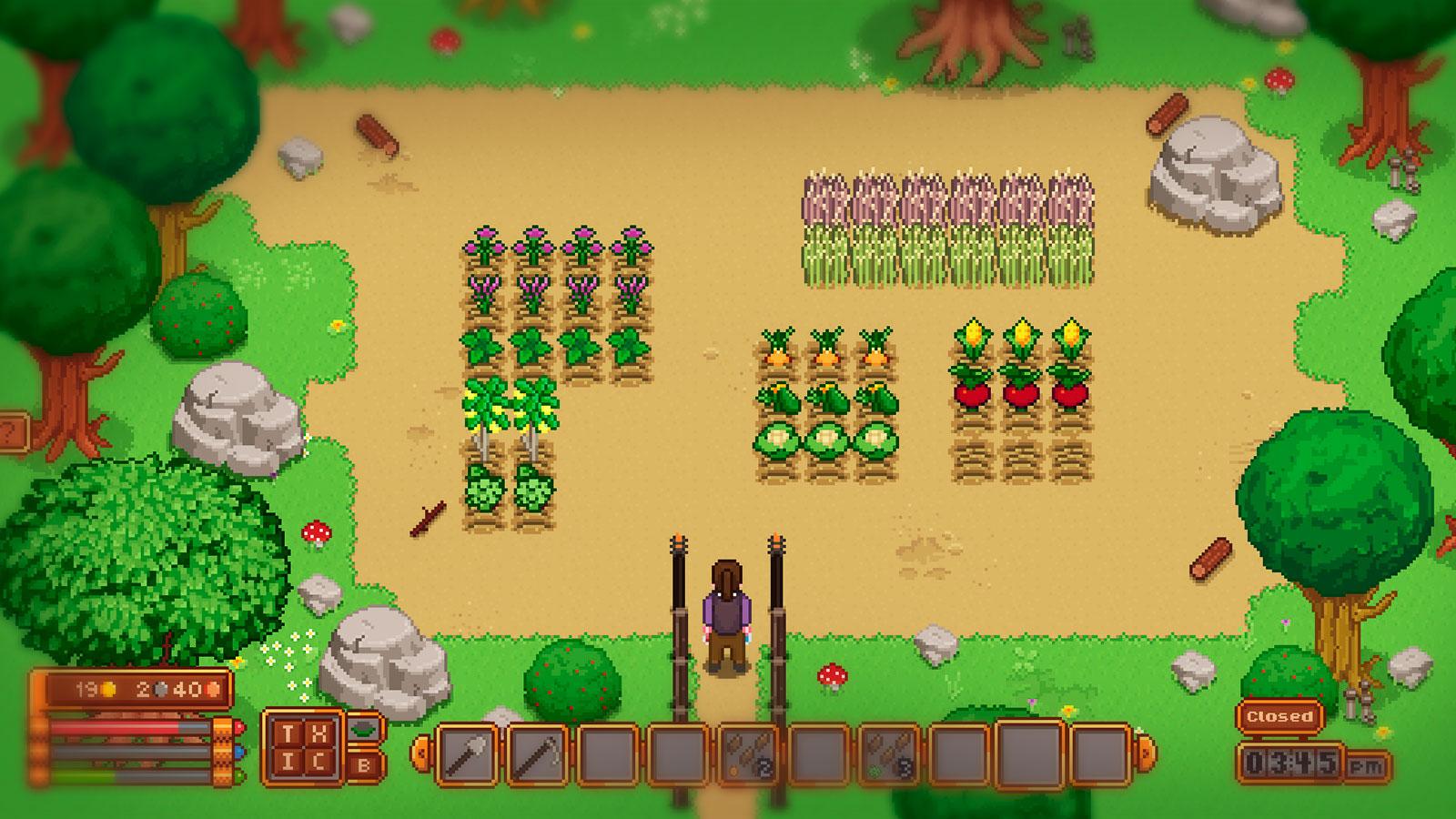 Travellers Rest пиксельная ферма