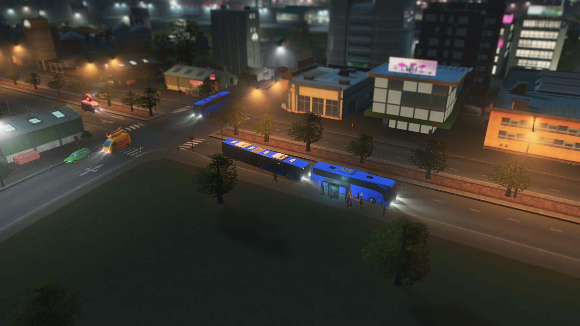 автобусы повышенной вместительности cities skyline