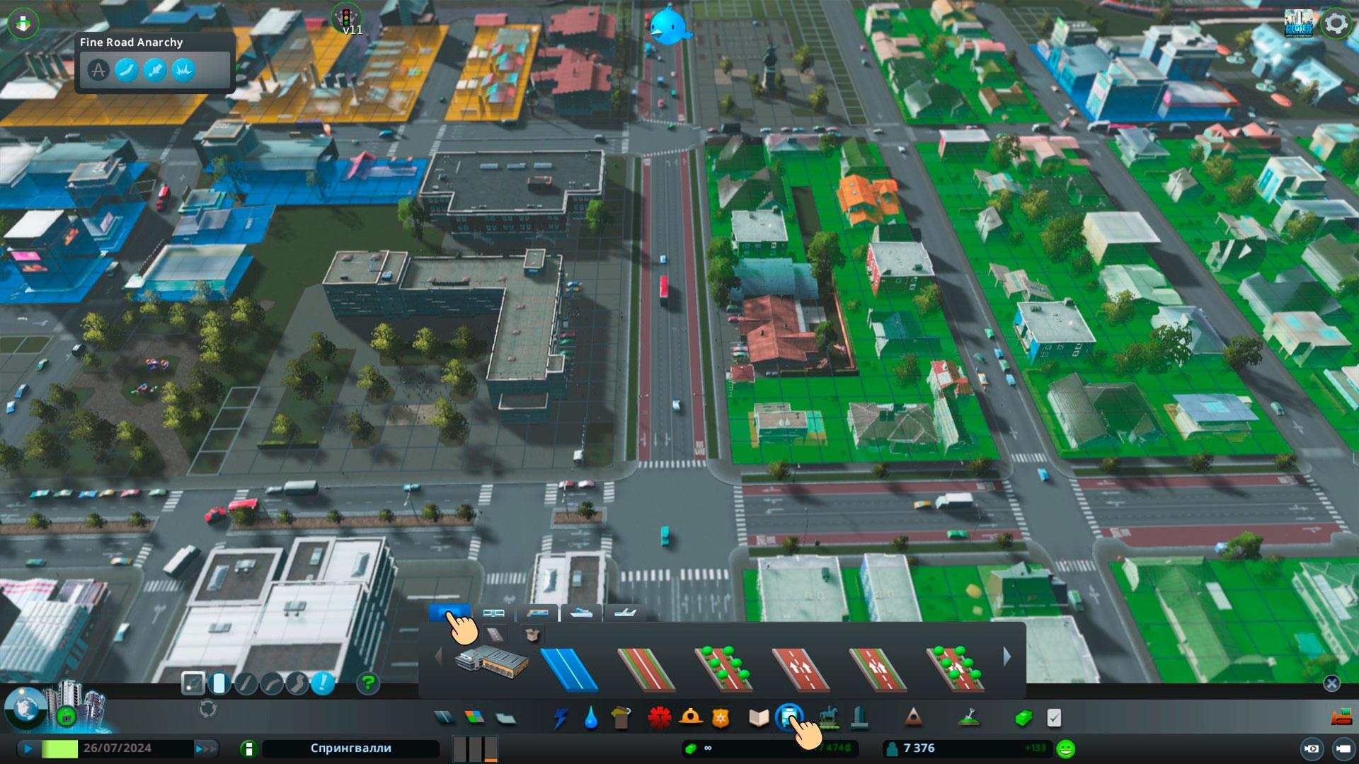 полная свобода в создании/улучшении cities skyline