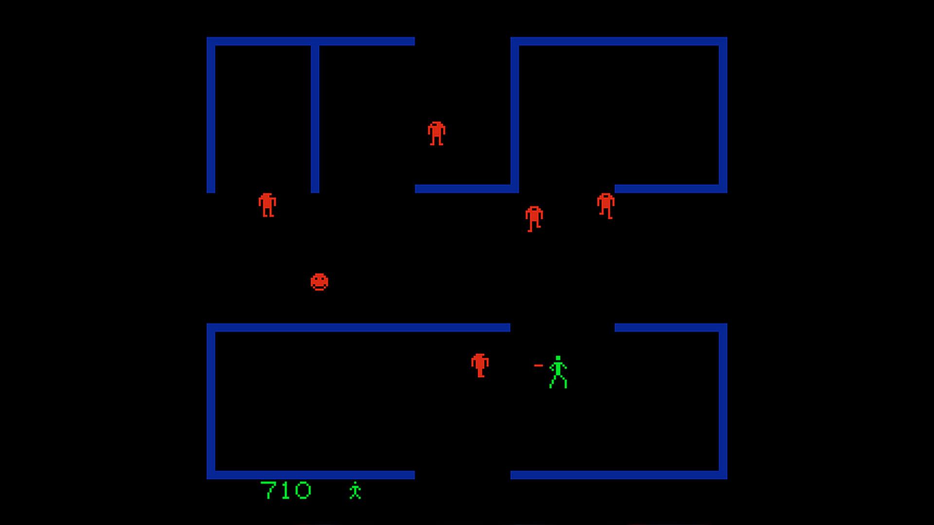 Самая первая сложная игра Berzerk