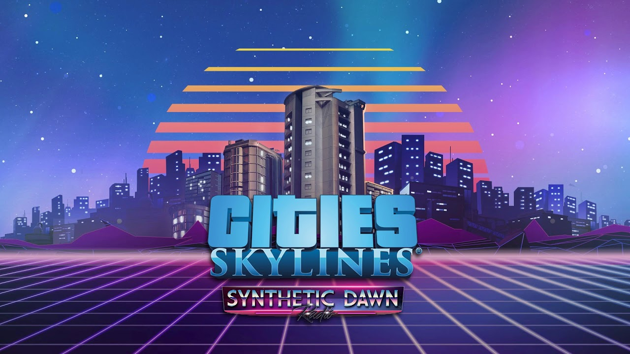 Synthetic Dawn Radio cities skyline