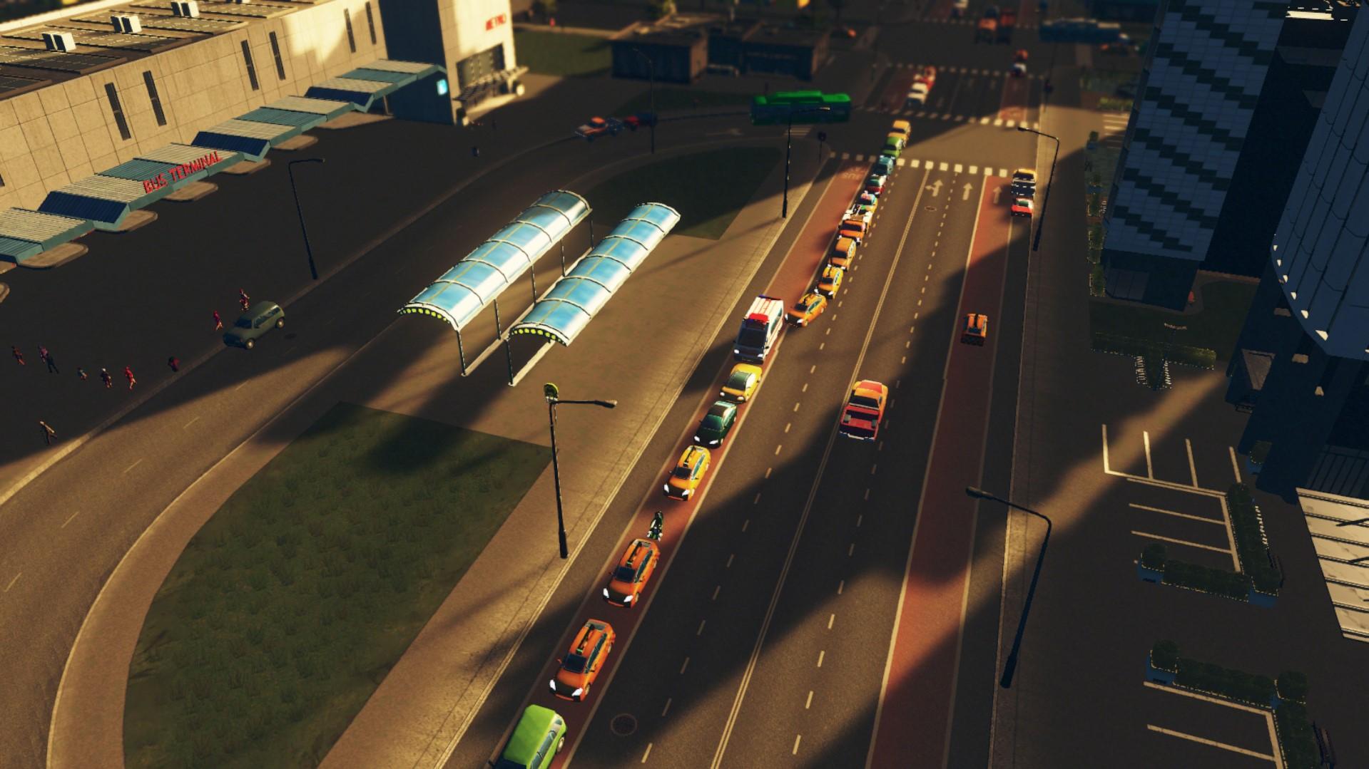 пробки из-за такси cities skyline