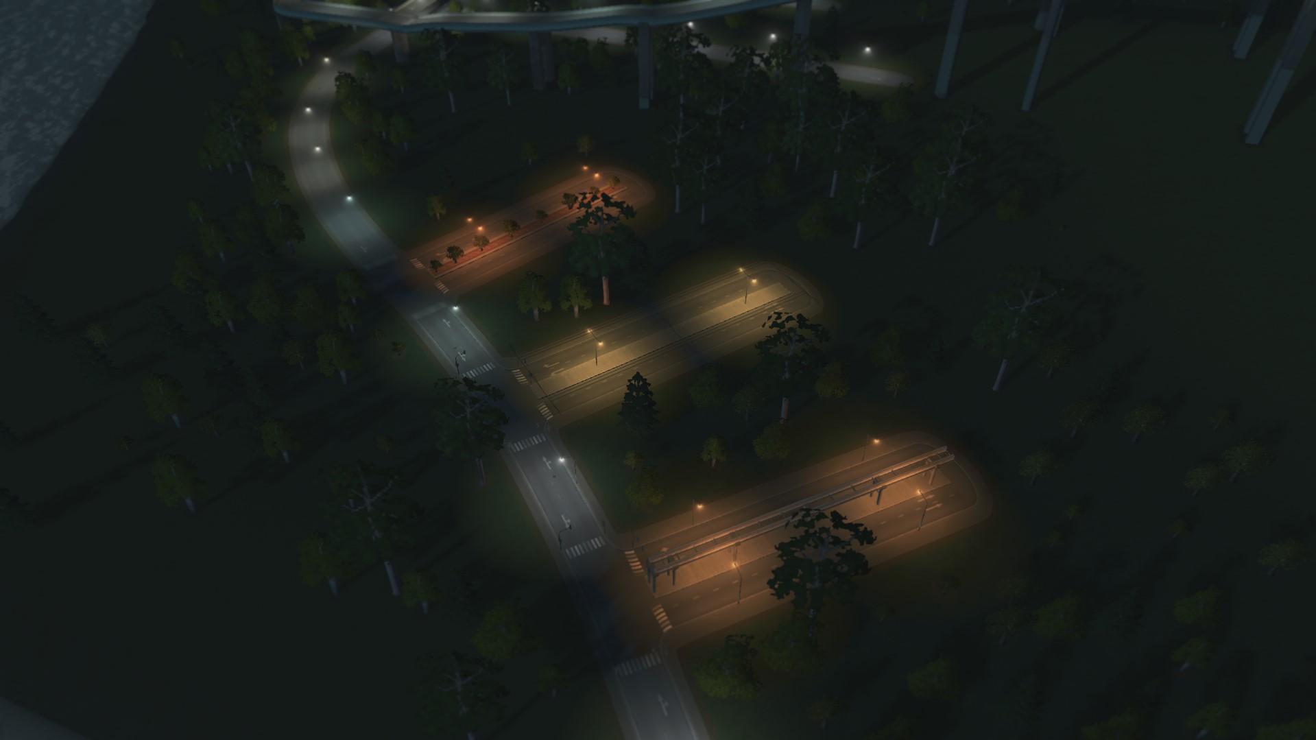 Однотипные дороги cities skyline