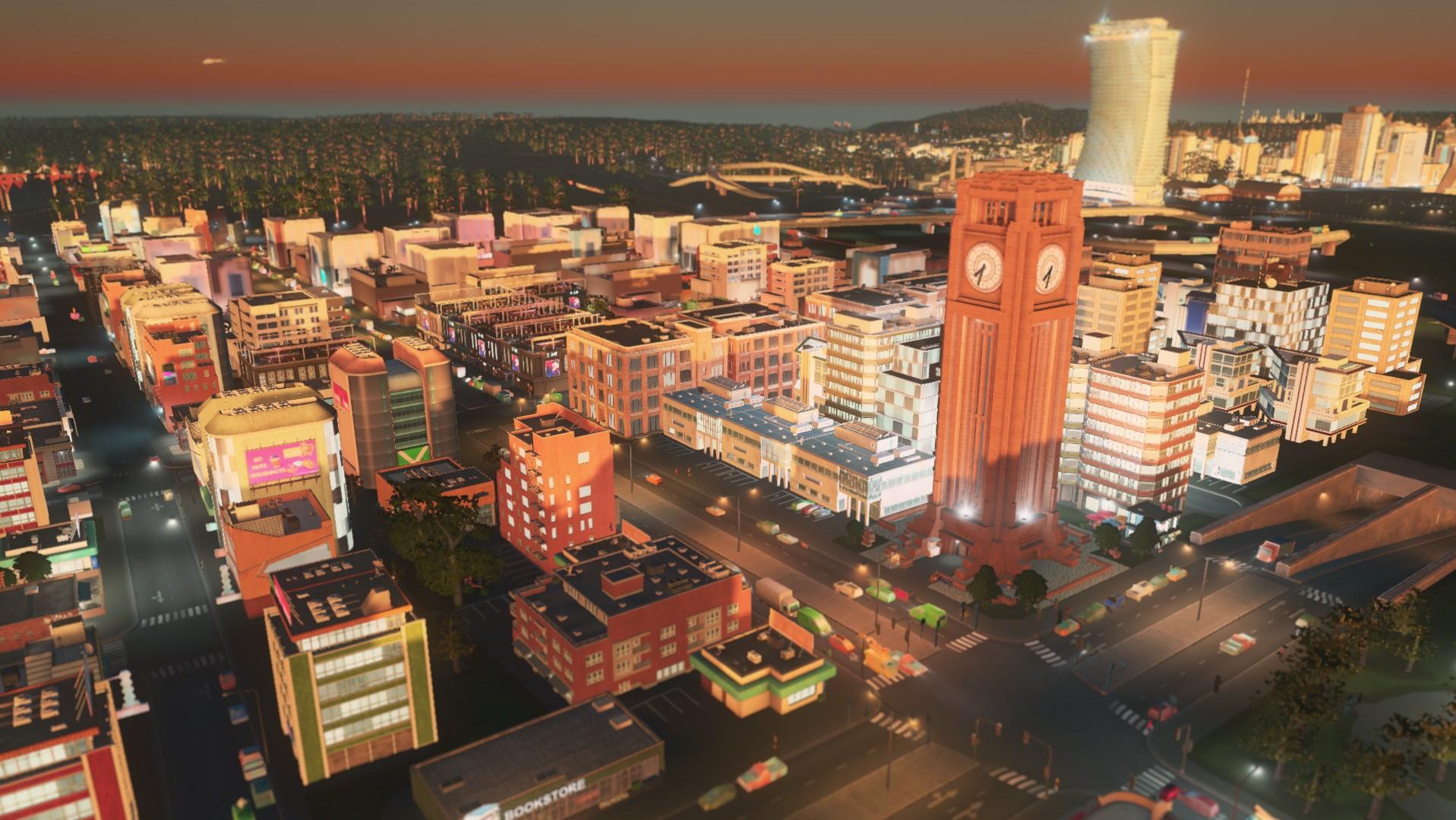 Коммерческие зоны cities skyline