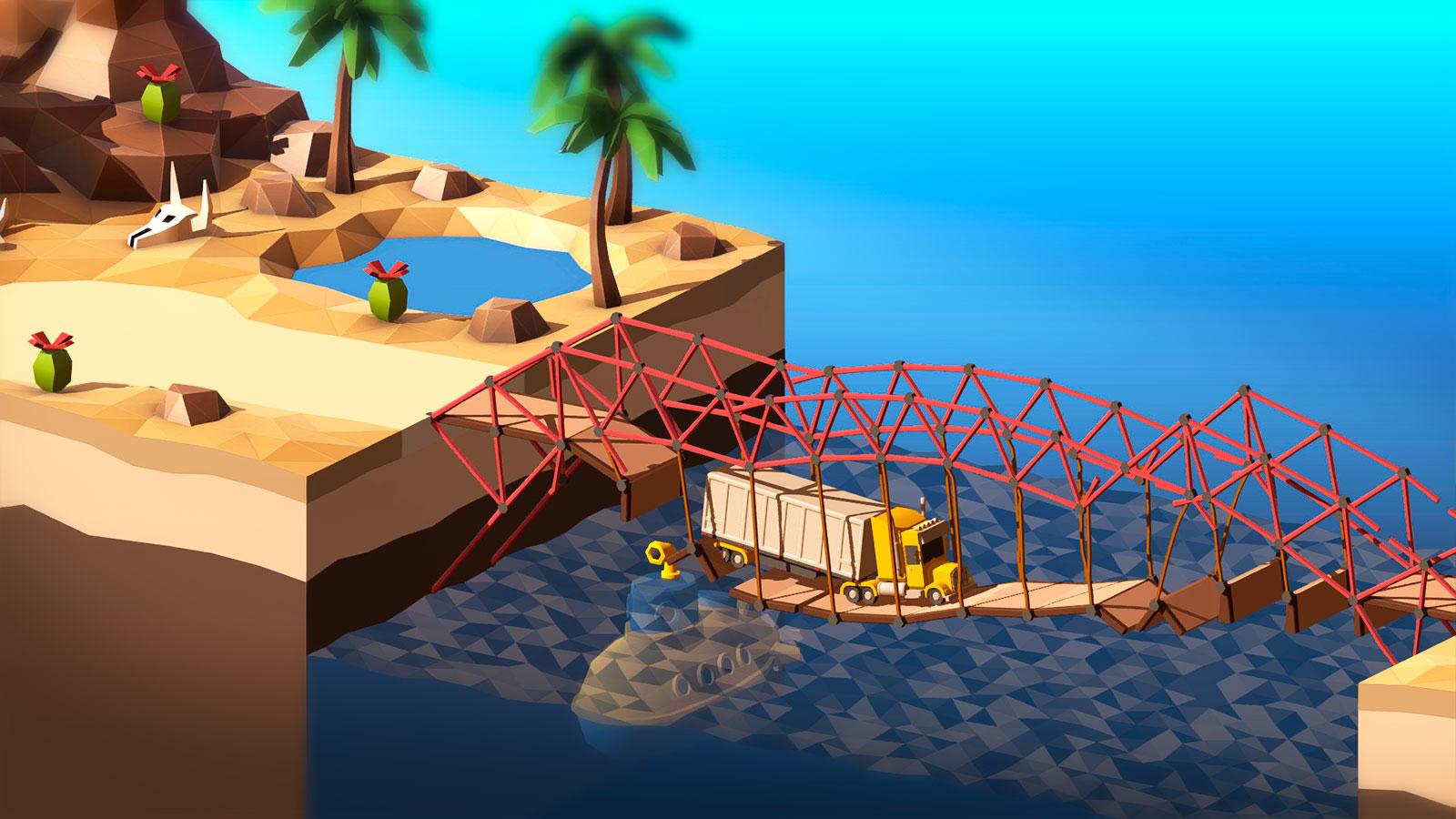 Poly Bridge 2 скриншоты из игры