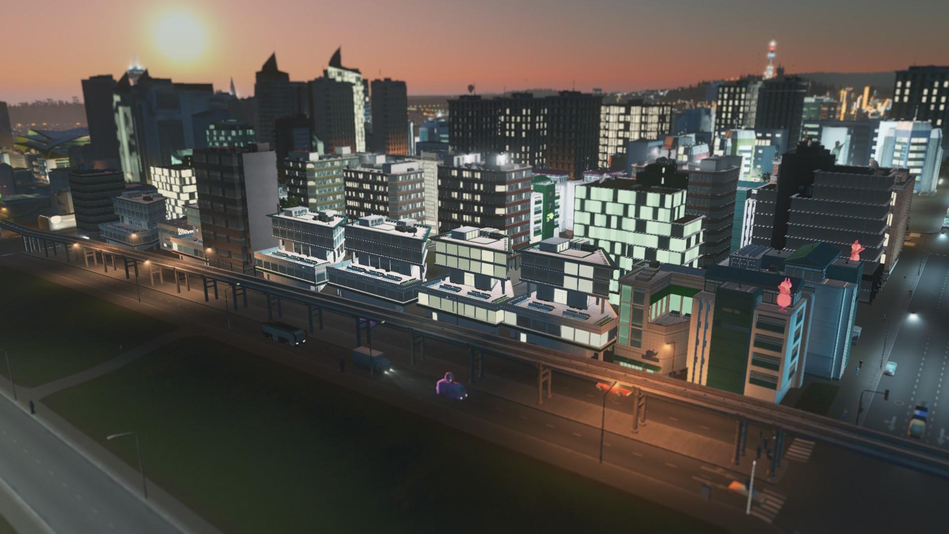 Деловые зоны cities skylines