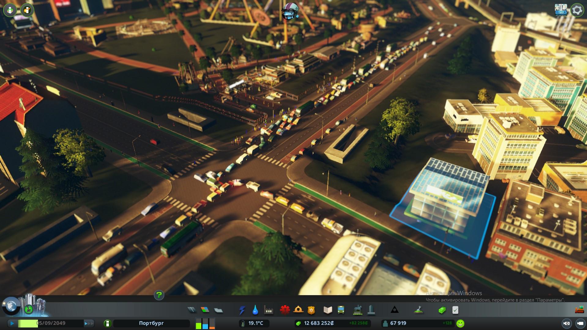 светофор не справляется city skylines