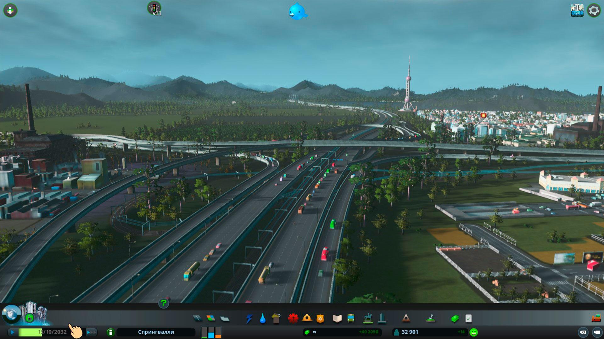 посмотреть текущую дату cities skyline