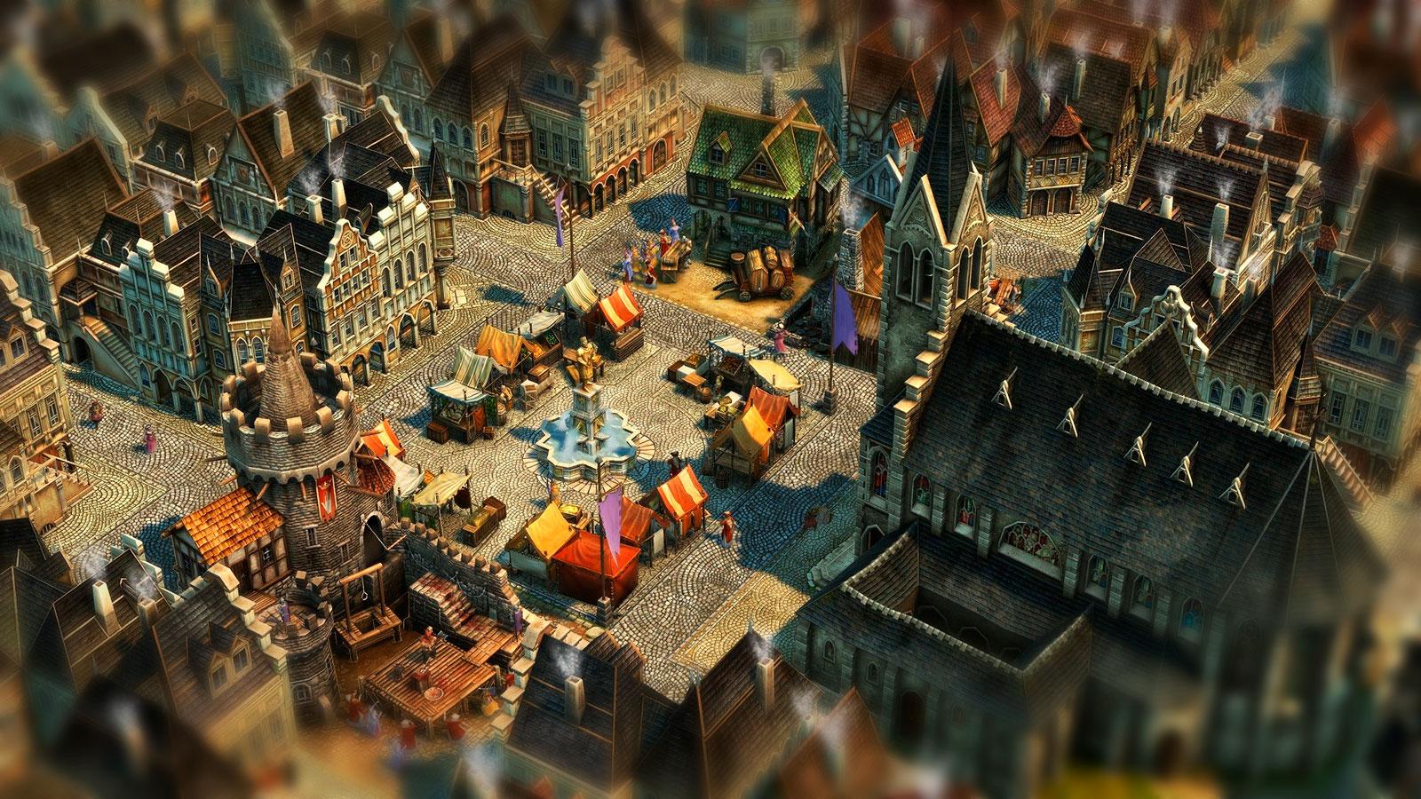Средневековое строительство в Anno