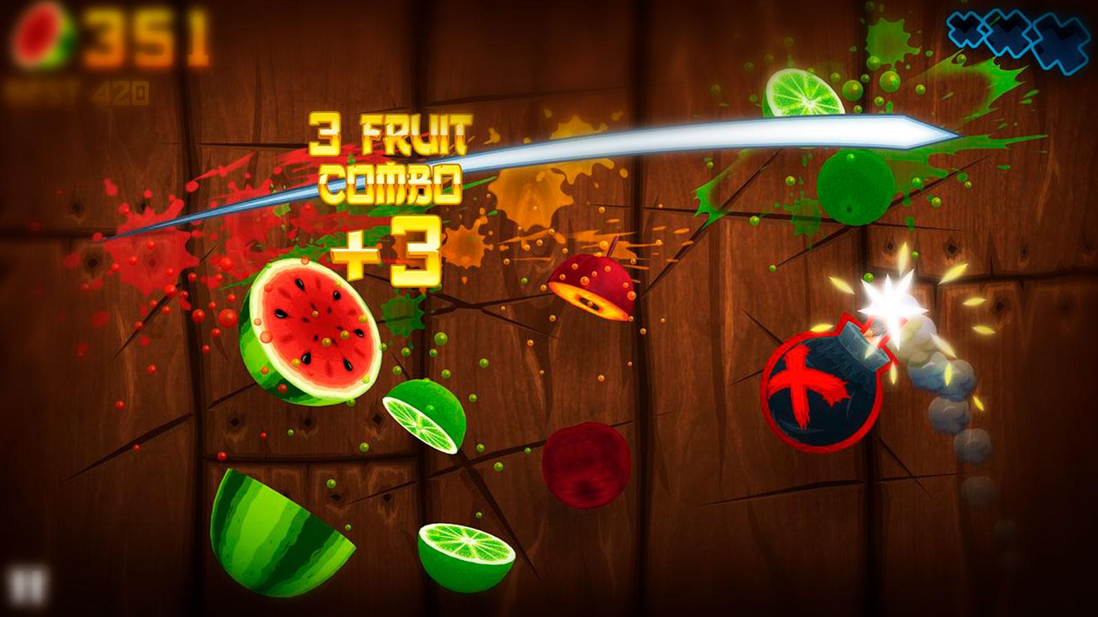 Фруктовые ниндзя в Fruit ninja
