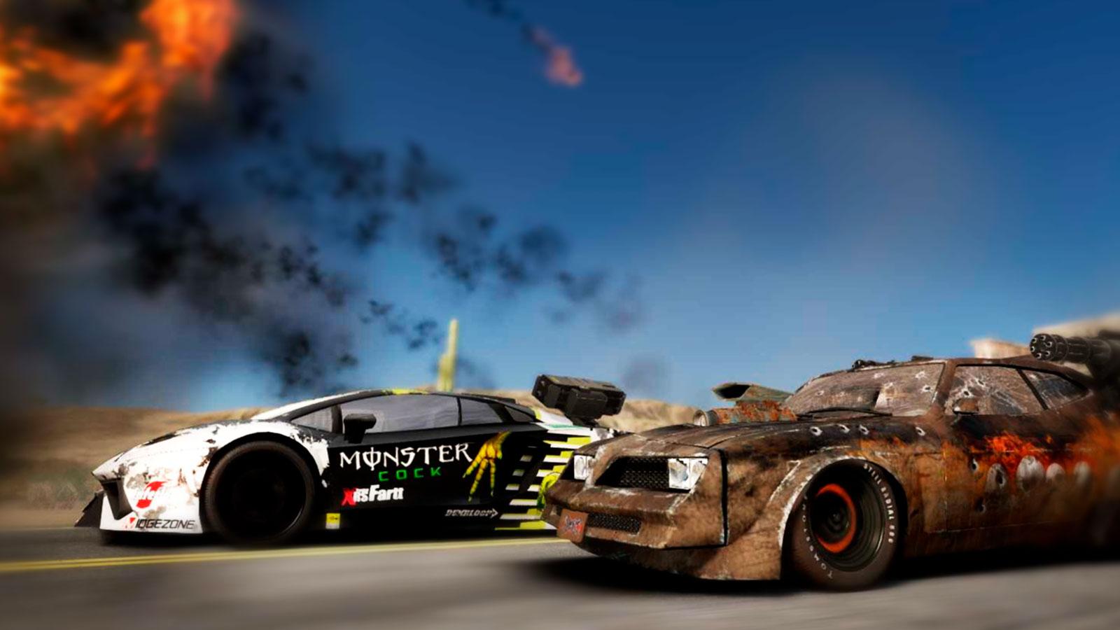 Тюнингованные авто и битвы в Gas Guzzlers Extreme