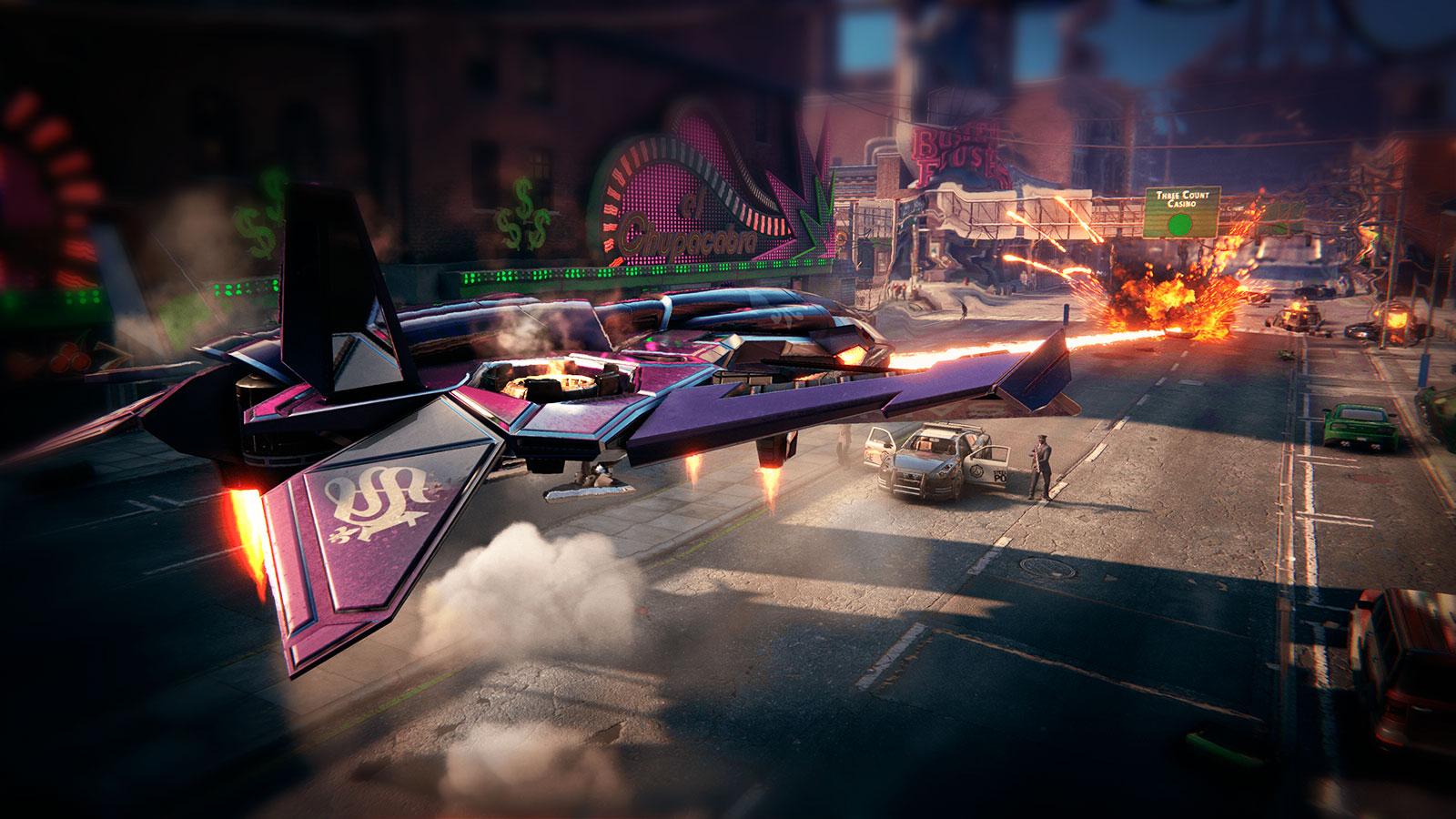 Saints Row киберпанк в стилистике GTA