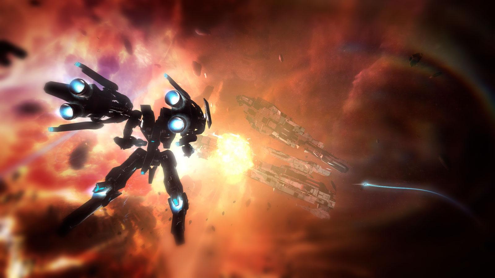Strike Suit Zero меха в космосе