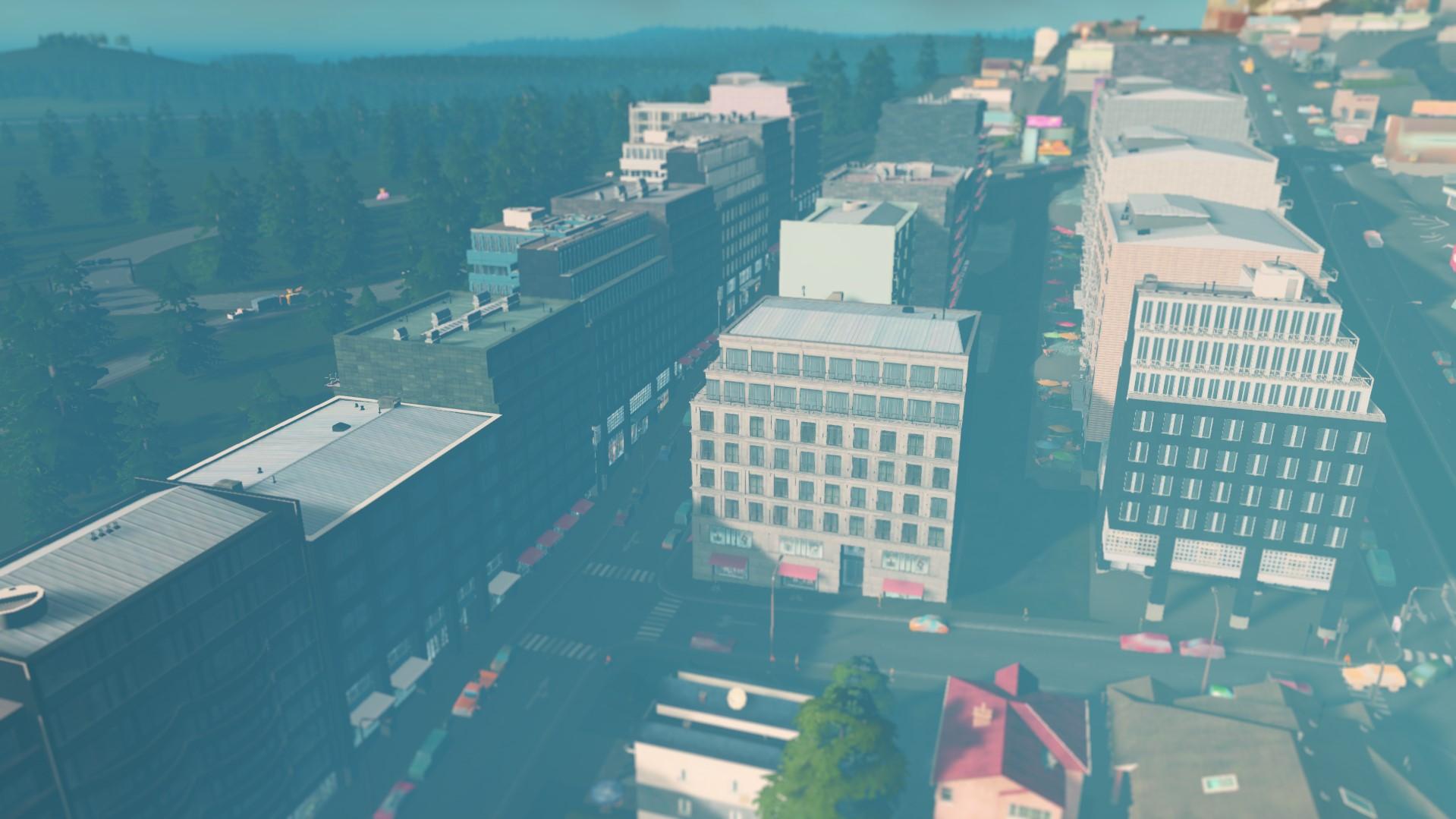 Строгие фасады зданий cities skylines